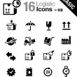 Stock Vector: Basic - Logistic and Shipping icons