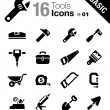 Basic - Tools and Construction icons — Stock Vector #25693363