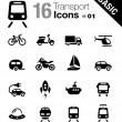 Basic - Transportation icons - Stockvectorbeeld