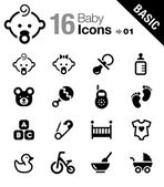 Basic - Baby icons — Stock Vector