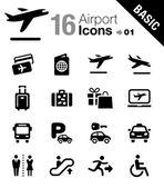 Basis - flughafen und reisen-symbole — Stockvektor