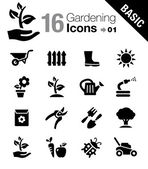 Basic - Gardening icons — Vettoriale Stock