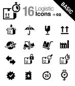 Basic - Logistic and Shipping icons — Stock Vector