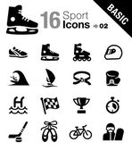 Basic - Sport icons — Stock Vector