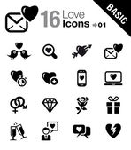 Basic - Love and Dating icons — Stock Vector