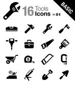 Basic - Tools and Construction icons — Stock Vector