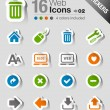 Stickers - Website and Internet Icons — Stock Vector #26627575