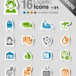 Royalty-Free Stock Vector Image: Stickers - Logistic and Shipping icons