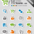 Stickers - Website and Internet Icons — Stock Vector