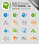 Stickers - Business strategy and management icons — Stock Vector