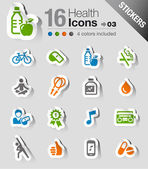 Stickers - Health and Fitness icons — Stock Vector