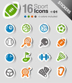 Stickers - Sport icons — Stock Vector