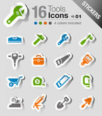 Stickers - Tools and Construction icons — Stock Vector