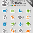 Stock Vector: Stickers - Gardening icons