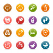 Colored Dots - Baby icons — Stock Vector