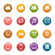 Colored Dots - Cloud computing Icons — Vector de stock #26843949