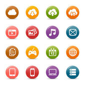 Colored Dots - Cloud computing Icons — Stock Vector