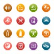 Colored Dots - Health and Fitness icons — Stock vektor