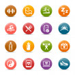 Stock Vector: Colored Dots - Health and Fitness icons