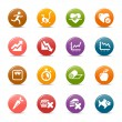 Colored Dots - Health and Fitness icons — Stock Vector #27316787