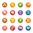 Colored Dots - Love and Dating icons — Vector de stock #27317049