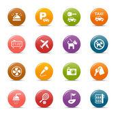 цветные точки - отель и курорт иконы — Cтоковый вектор