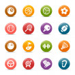 Stock Vector: Colored Dots - Sport icons