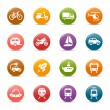 Colored Dots - Transportation icons — Stock Vector #27353047
