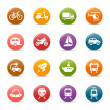 Colored Dots - Transportation icons — Stock Vector