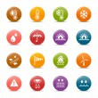 Stock Vector: Colored Dots - Weather and Meteorology Icons