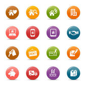 Colored dots - Real estate icons — Stock Vector