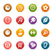Colored Dots - Sport icons — Stock Vector