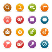 Colored Dots - Website and Internet Icons — Stock Vector