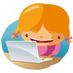 On laptop — Stock Vector #5584557
