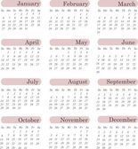 US style 2013 calendar — Stock Vector