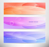 Banner design set — Stock Vector