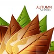 Vector abstract autumn leaf background — Stock Vector