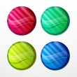 Colorful sticker set — Stock Vector