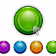 Smooth buttons — Stock Vector
