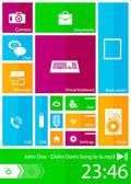 Interfaccia utente quadrati — Vettoriale Stock