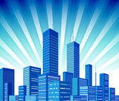 City background — Vector de stock