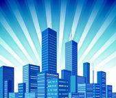 Ciudad de antecedentes — Vector de stock