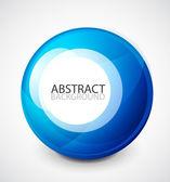 Esfera azul vector — Vector de stock