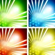 Set of shiny vector backgrounds — Stock Vector #13547522