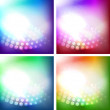 Set of shiny vector backgrounds — Stock Vector