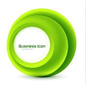 Green eco business emblem — Stock Vector