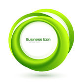 Green eco business emblem — Vector de stock