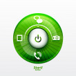 Royalty-Free Stock Imagem Vetorial: Power button with options