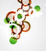 抽象圆圈背景 — 图库矢量图片