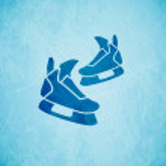 Vector skates background — Stock Vector